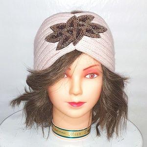 Beaded Cozy Knit Headband